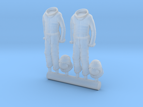SPACE 2999 EAGLE MPC 1/72 ASTRONAUT SUITS HANGING in Smooth Fine Detail Plastic