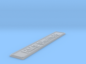 Nameplate HMS Sheffield in Smoothest Fine Detail Plastic