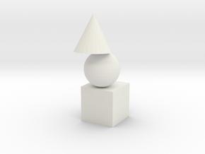 Super Tide Triangle Rocket in White Natural Versatile Plastic: Medium