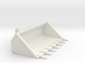1/50th Skid Steer 7' wide bucket w teeth in White Natural Versatile Plastic