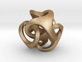 Ora Pendant (smaller) in Matte Gold Steel