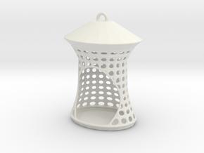 Birdfeeder in White Natural Versatile Plastic