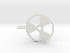 Radioactive Pendant in White Natural Versatile Plastic