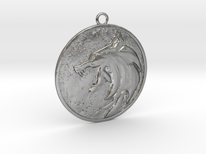 Witcher White wolf in Natural Silver