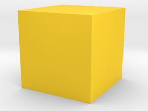 cube 1 cm in Wireless in Yellow Processed Versatile Plastic