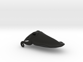 Cuttlefish Pendant in Black Natural Versatile Plastic: Medium