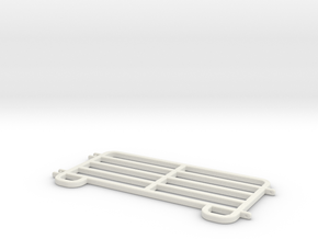 Livestock Fence Panel Scaled in White Natural Versatile Plastic: 1:48 - O