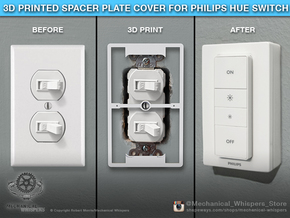 Philips Hue Dimmer Duplex Plate (US Toggle) in White Natural Versatile Plastic