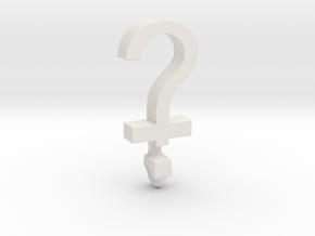 Devout Agnostic (small) in White Natural Versatile Plastic