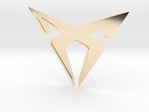 Cupra Logo (Large) in 14K Yellow Gold