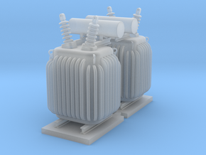 N Scale PRR Substation Transformer 2PK in Smooth Fine Detail Plastic