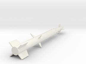 1/72 Scale Spartan Missile in White Natural Versatile Plastic