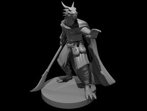 Dragonborn Sorcerer - Psion with Glaive in Smooth Fine Detail Plastic