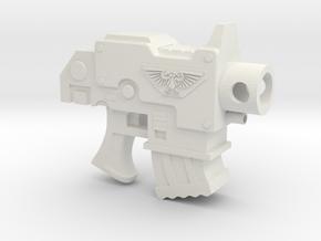 1/3 Scale Bolt Pistol in White Natural Versatile Plastic