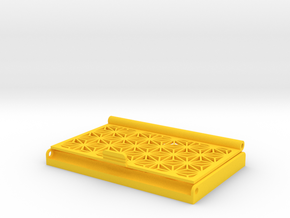 Asanoha Pattern Business Card Holder in Yellow Processed Versatile Plastic