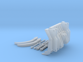 1:50 Root Grapple for 963D track loader. in Smooth Fine Detail Plastic