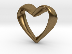 Twisted Heart in Natural Bronze