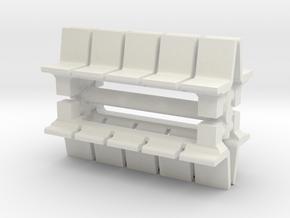 Platform Seats (x4) 1/76 in White Natural Versatile Plastic