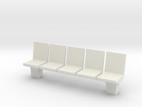Platform Seats 1/35 in White Natural Versatile Plastic