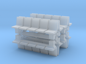 Platform Seats (x8) 1/200 in Smooth Fine Detail Plastic