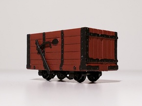 009 FR Five Plank Wagon 4mm Scale in Smooth Fine Detail Plastic