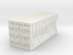 Damaged 20ft Container 1/144 in White Natural Versatile Plastic