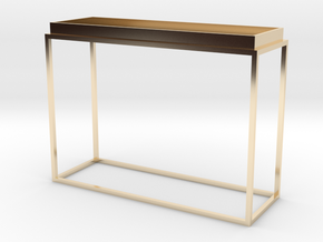 Miniature Tray Top Console Table in 14K Yellow Gold