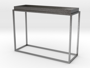 Miniature Tray Top Console Table in Natural Silver
