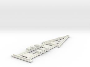 Slot Car Caravan chassis for racing in White Natural Versatile Plastic