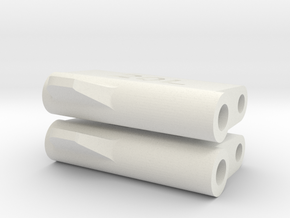 LM Tread: 20mm watch adapter (long) in White Natural Versatile Plastic