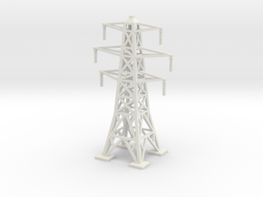 Transmission Tower 1/144 in White Natural Versatile Plastic