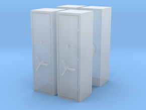 Large Safe (x4) 1/87 in Smooth Fine Detail Plastic