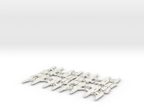 1/6 STARLYTE PISTOL & RIFLE X8 in White Natural Versatile Plastic