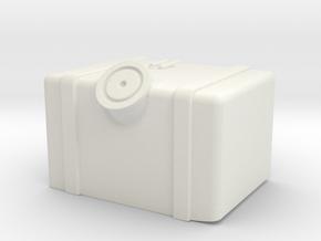 Axial SCX10.2 Gas Tank ESC cover in White Natural Versatile Plastic