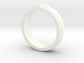 Heart Ring in White Processed Versatile Plastic