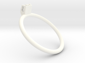 Cherry Keeper Ring - 85mm Flat +40° in White Processed Versatile Plastic