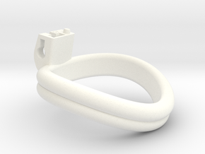 Cherry Keeper Ring - 57mm Double in White Processed Versatile Plastic