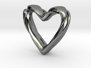 Twisted Heart pendant in Premium Silver