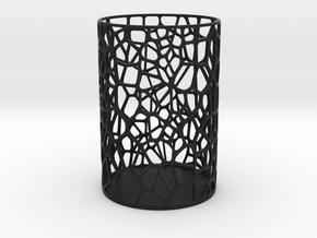 Pen Holder Voronoi in Black Strong & Flexible