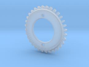 Stencil Machine Gear 2 in Smooth Fine Detail Plastic