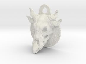 Dragonskull pendant in White Natural Versatile Plastic
