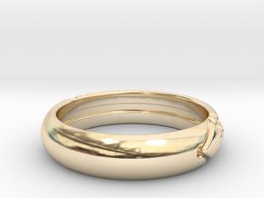 Atlantis ring in 14k Gold Plated Brass: 7 / 54