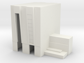 1/500 Scale Vehicle Assembly Building in White Natural Versatile Plastic