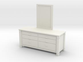 1/12 Scale Western Dresser in White Natural Versatile Plastic