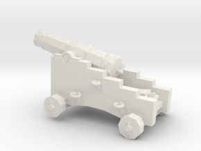 1/48 Scale 6 Pounder Naval Gun in White Natural Versatile Plastic