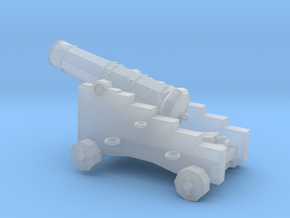 1/96 Scale 9 Pounder Naval Gun in Smooth Fine Detail Plastic
