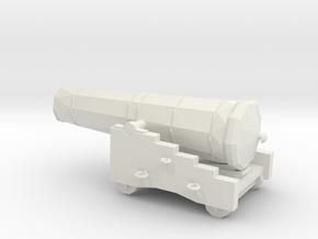 1/48 Scale 42 Pounder Naval Gun in White Natural Versatile Plastic