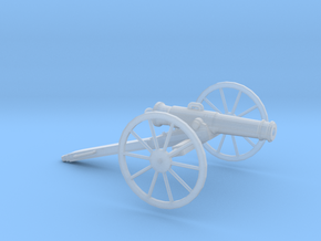 1/100 Scale American Civil War Cannon 24-pounder in Smooth Fine Detail Plastic