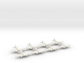 De Havilland Hornet F3 1:700 in White Natural Versatile Plastic