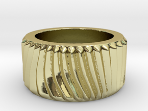 My Awesome Ring Design 01 Ring Size 7.5 in 18k Gold Plated Brass